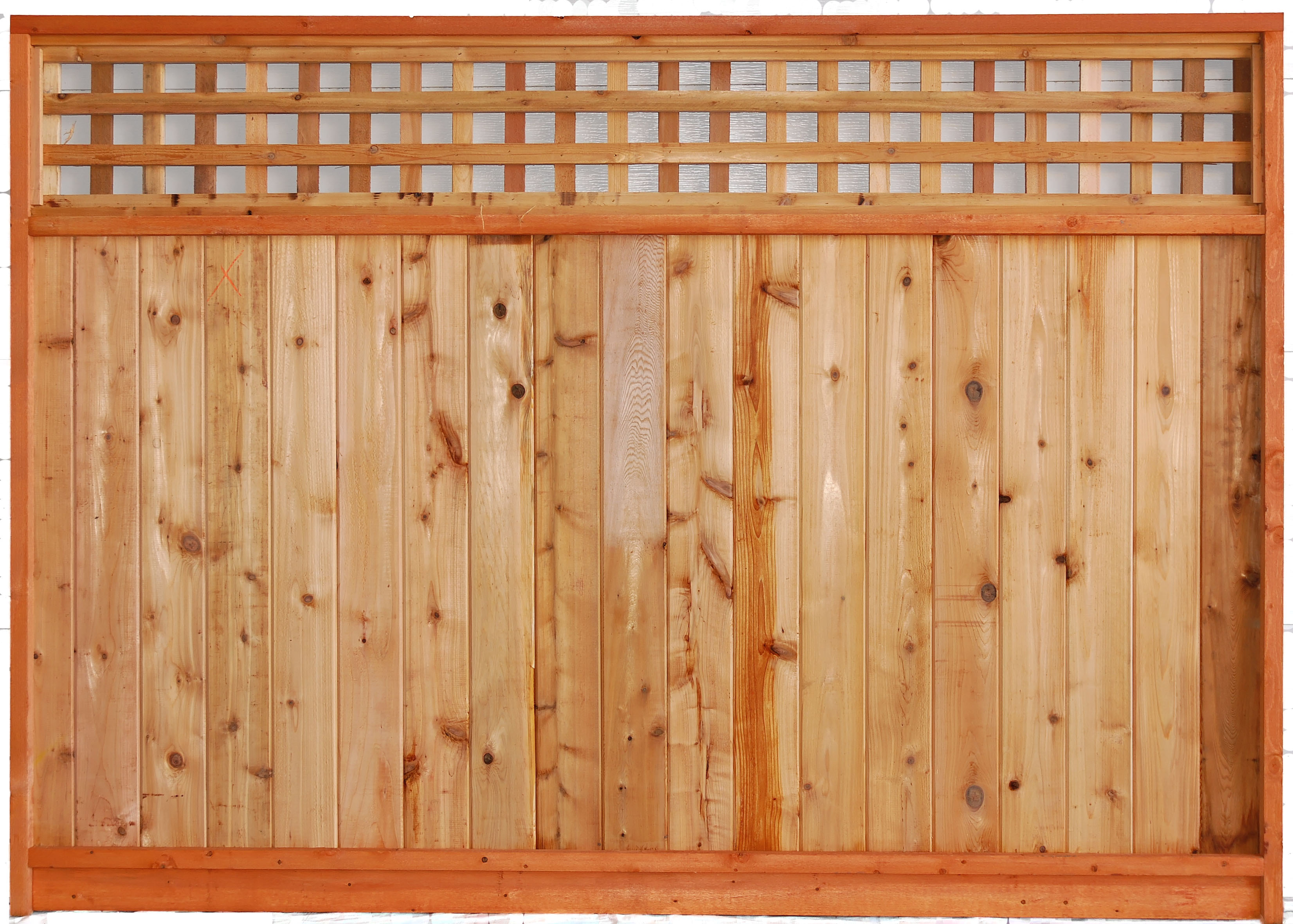 Aim cedar works ltd quality fence panels decks and renovations square top lattice fence panel baanklon Choice Image